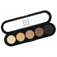 Палетка теней, 5 цветов Make-up Atelier Paris T03s натуральные коричневые тона: фото