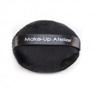 Пуховка для пудры Make-Up Atelier, черная, диаметр 75 мм: фото